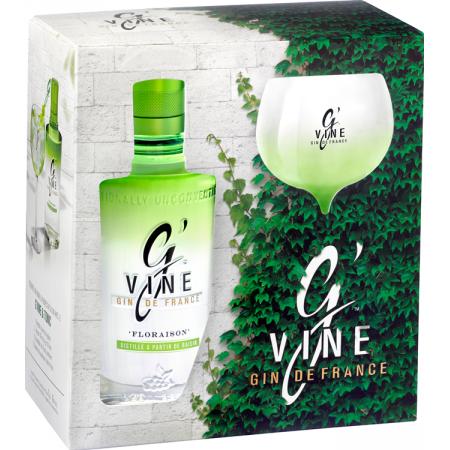GIN G'VINE FLORAISON - EN COFFRET 1 VERRE
