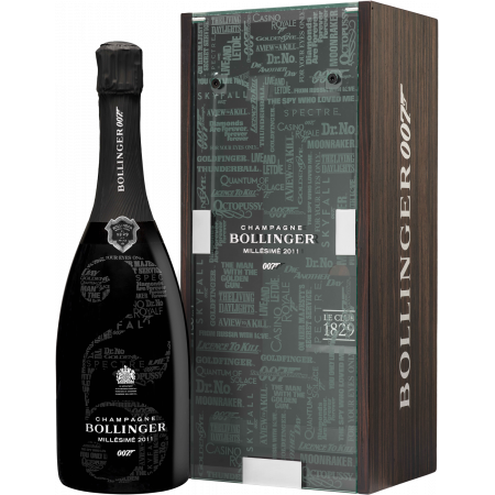 CHAMPAGNE BOLLINGER - COFFRET JAMES BOND 007 - MILLESIME 2011