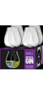 GIN SET OPTICAL - 4 VERRES - REF 5515/67 - RIEDEL