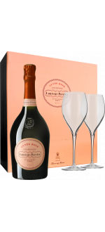 CHAMPAGNE LAURENT-PERRIER - BRUT ROSE - EN COFFRET 2 FLUTES