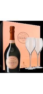 CHAMPAGNE LAURENT-PERRIER - BRUT ROSE - EN COFFRET 2 FLUTES