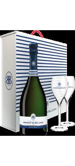 CHAMPAGNE BESSERAT DE BELLEFON - BLEU BRUT - EN COFFRET 2 FLUTES