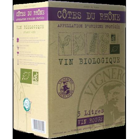 CUBI 3L - CÔTES DU RHÔNE BIO - VIGNERONS ARDÉCHOIS