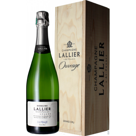 CUVEE OUVRAGE GRAND CRU - CHAMPAGNE LALLIER - CAISSE BOIS