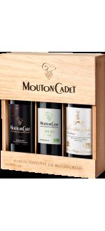 COFFRET 3 BOUTEILLES MOUTON CADET PANACHE - BARON PHILIPPE DE ROTHSCHILD