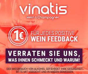 vinatis wein & champagner - 1€ für jedes positive Feedback - Verraten Sie uns, ws Ihnen schmeckt und warum!