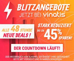 Blitzangebote jetzt bei vinatis - alle 48 Stunden neue Deals! Stark reduziert bis zu 45% sparen - Der Countdown läuft!