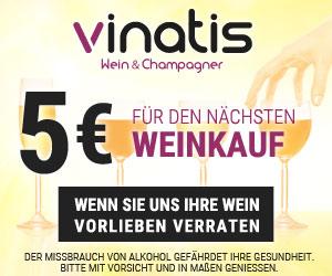 vinatis wein & champagner - 5€ für den nächsten Weinkauf, wenn Sie uns Ihre Weinvorlieben verraten