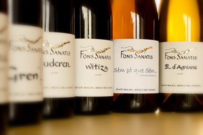 Gamme de bouteilles de vins Fons Sanatis