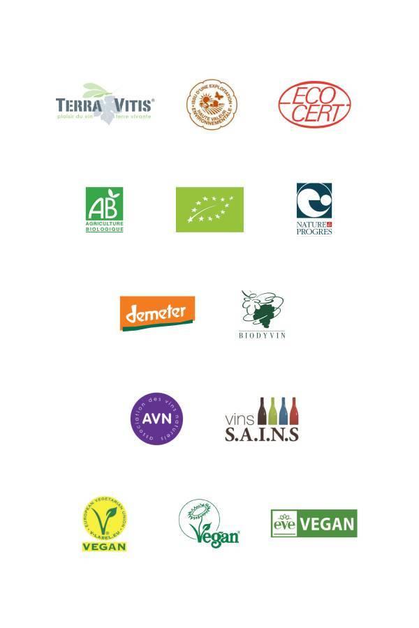Labels des vins bio