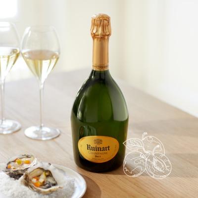 R de Ruinart champagne brut emblématique de la maison