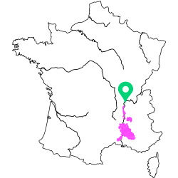 Carte de l'appellation Rhone