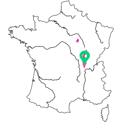 Carte de l'appellation du Beaujolais