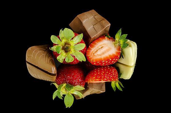 Fruchtschokolade Erdbeeren