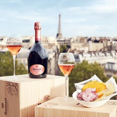 Champagne rosé Ruinart, pour un dîner tout au champagne