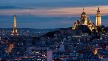 Torre Eiffel paesaggio Parigi