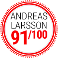 Andreas Larsson : 91/100